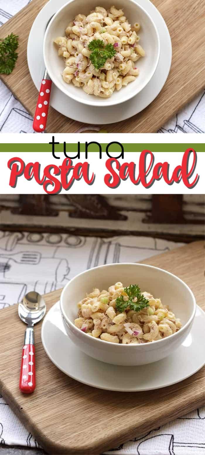 tuna pasta salad pin image