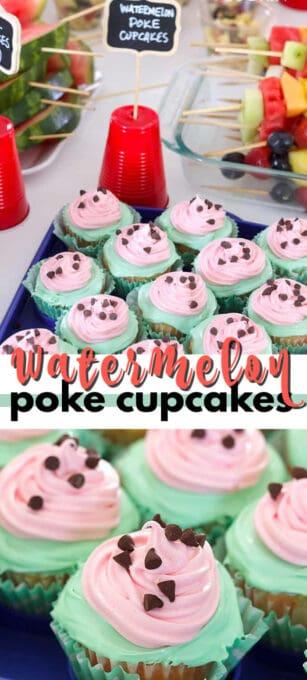 watermelon poke cupcakes pin image