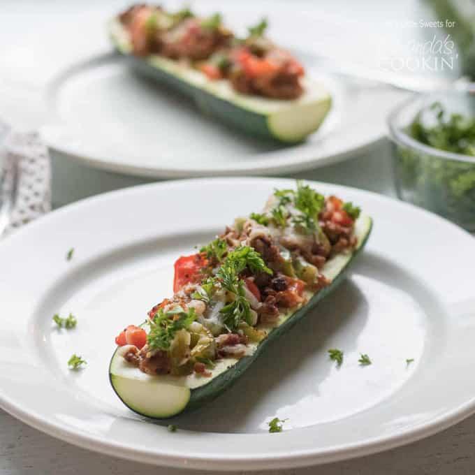 stuffed zucchini boat