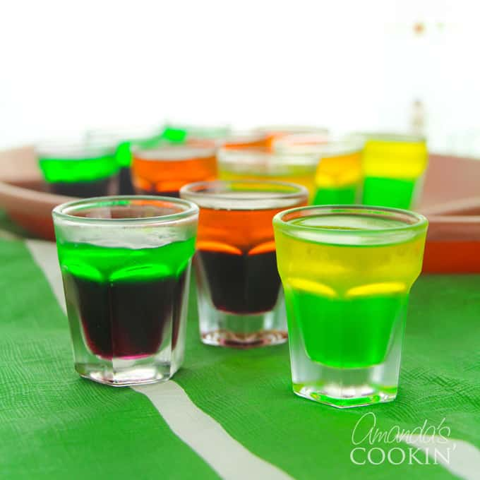 football team inspired jello shots