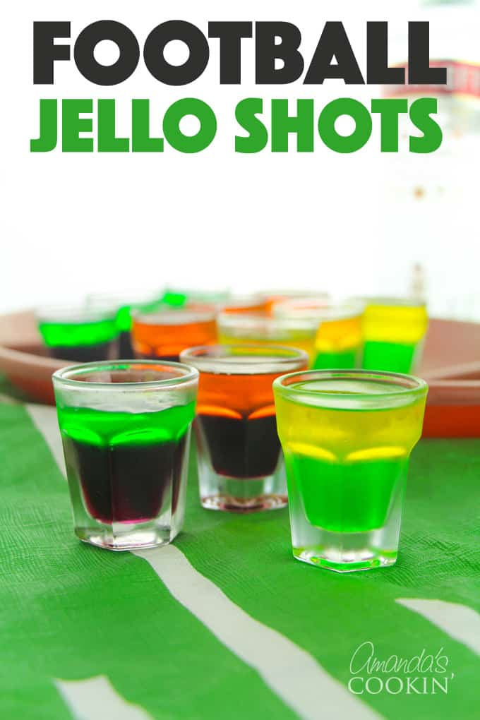 football jello shots