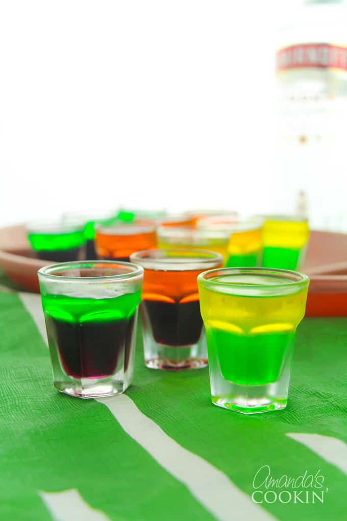 football themed jello shots