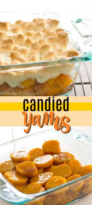candied yams pin image