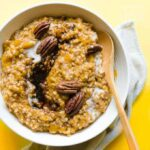 A bowl of Butternut squash oatmeal