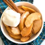 These delicious crockpot cinnamon apples can be served for breakfast, alongside dinner or topped with ice cream for dessert!
