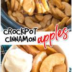cinnamon apples in crockpot an in bowl