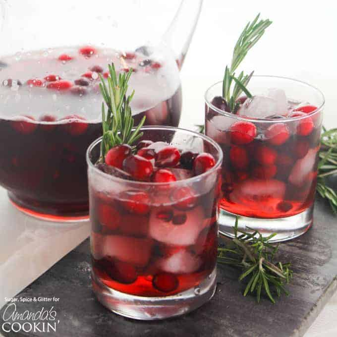 Cranberry Holiday Punch is perfect for your festive parties. Whip it up for your Thanksgiving gathering or a Christmas party!