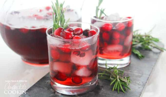 Cranberry Holiday Punch horizontal image