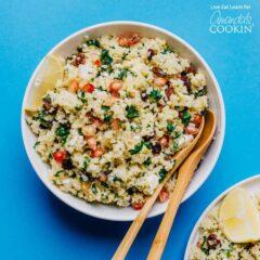 bowl of grain salad