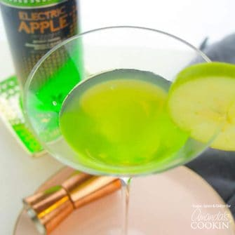 A perfectly sweet and tart apple cocktail, this Appletini is a classic and is sure to be a hit at your next get-together with friends!
