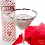 Chocolate Peppermint martini close up