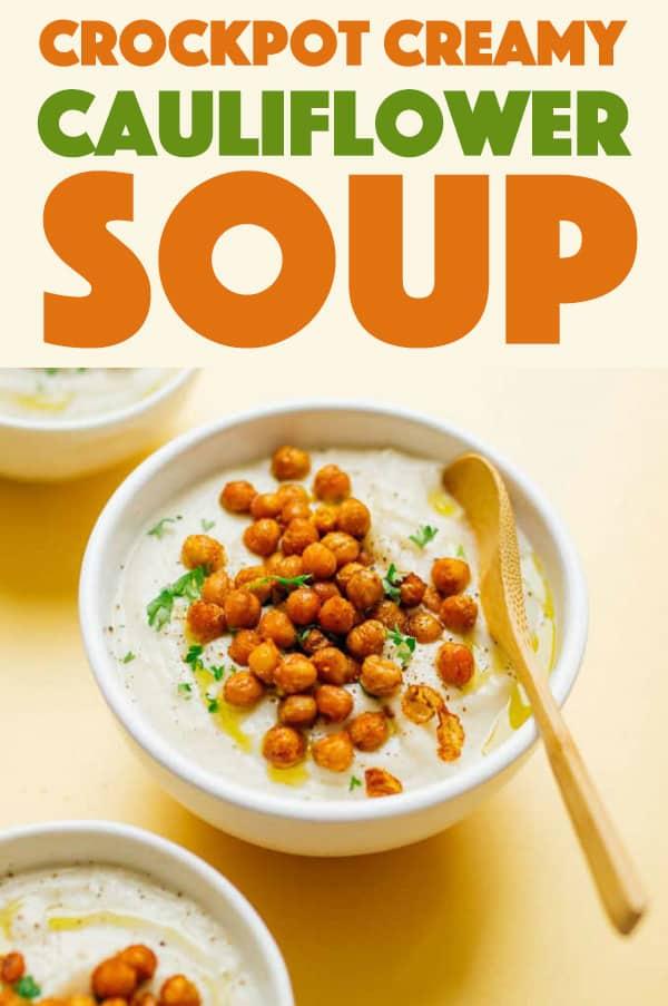 Crockpot Creamy Cauliflower Soup