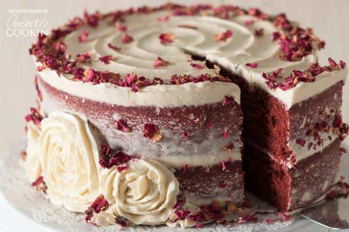 Slice of Red Velvet Cake