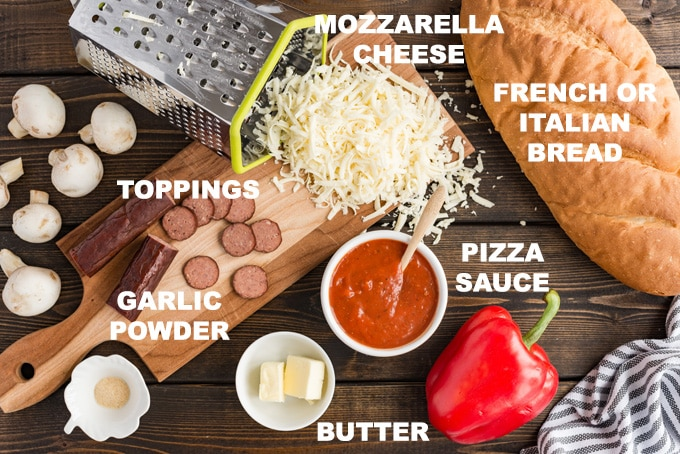 ingredients needed to make french bread pizza