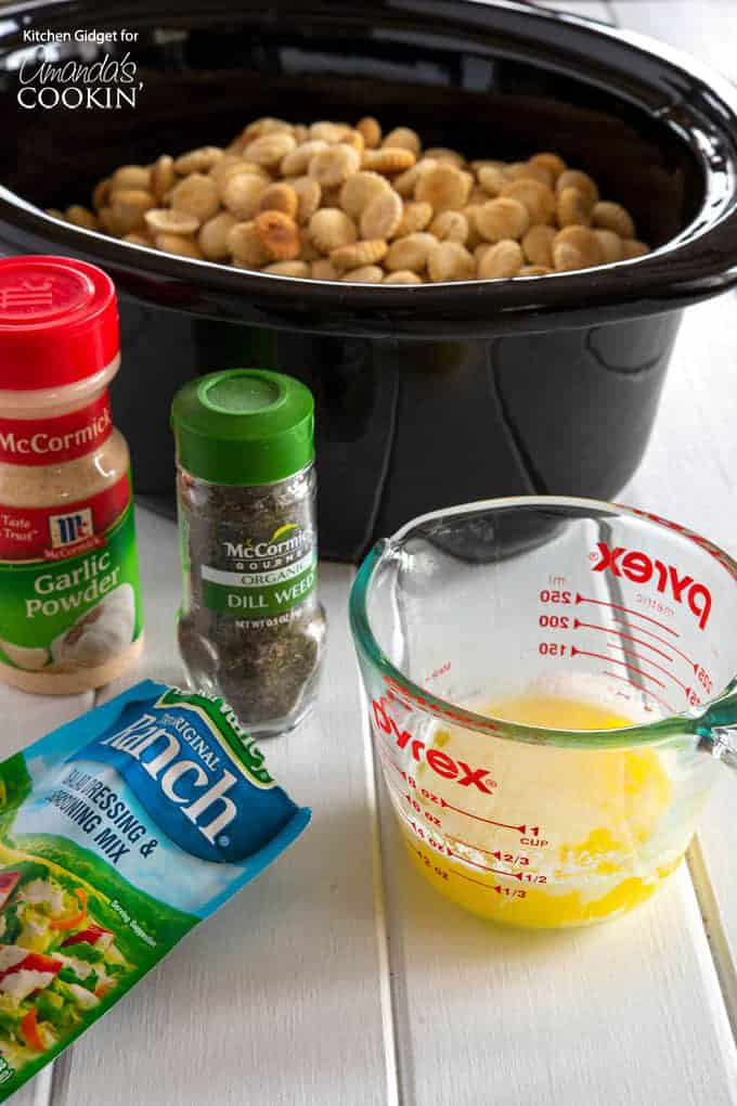 Ingredients for ranch seasoned oyster crackers