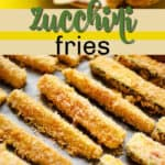 zucchini fries pin image