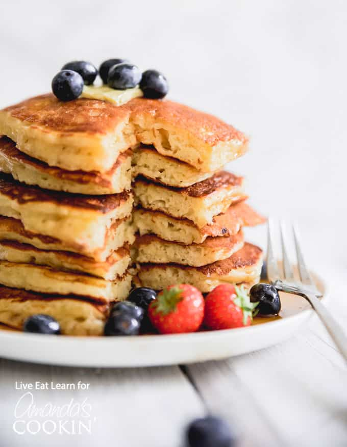 Fluffy Homemade Buttermilk Pancakes