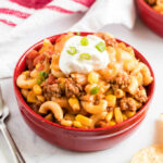 bowl of hamburger casserole