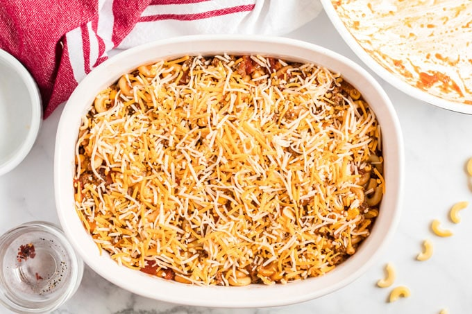 casserole dish with cheese
