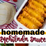homemade enchilada sauce pin image