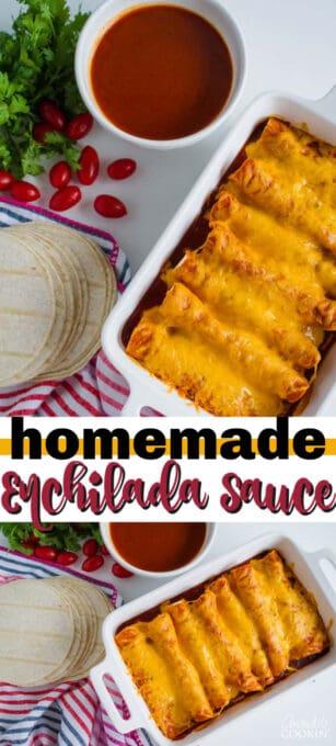 homemade enchilada sauce pin image