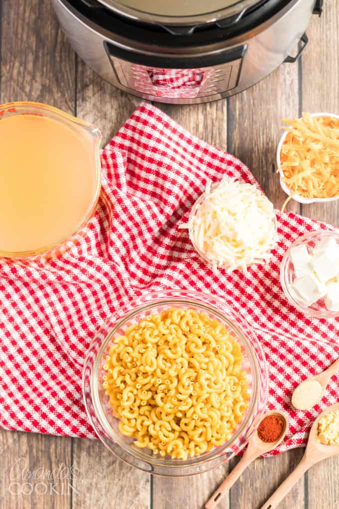 ingredients for instant pot mac and cheese