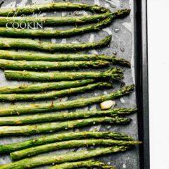 pan of asparagus