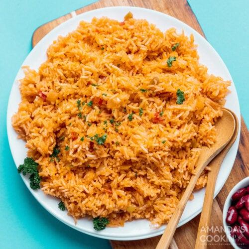 plate of spanish rice