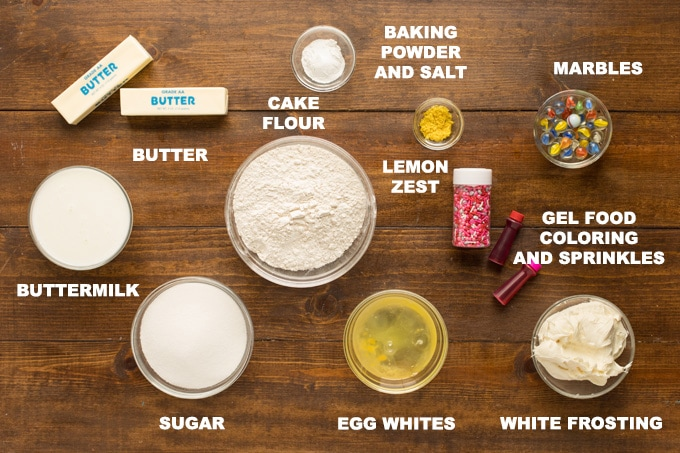 ingredients for valentine cupcakes