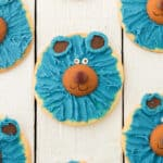 sugar cookies decorated like Boomer the bear