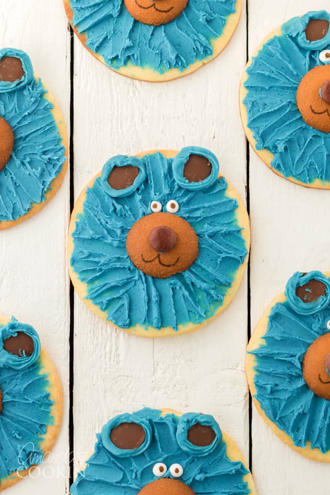 blue bear cookies