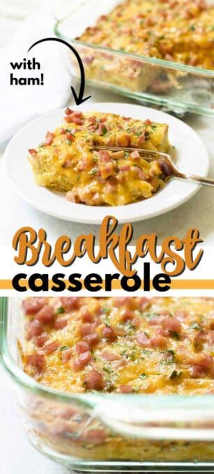 breakfast casserole pin image