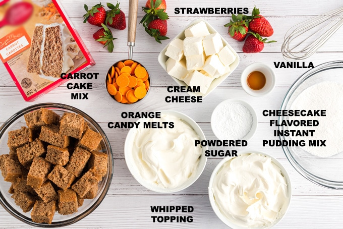 ingredients you need for carrot cake trifle