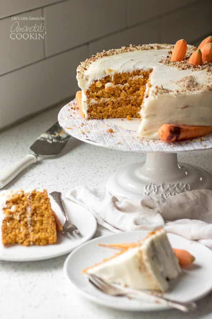 carrot cake slices on plate