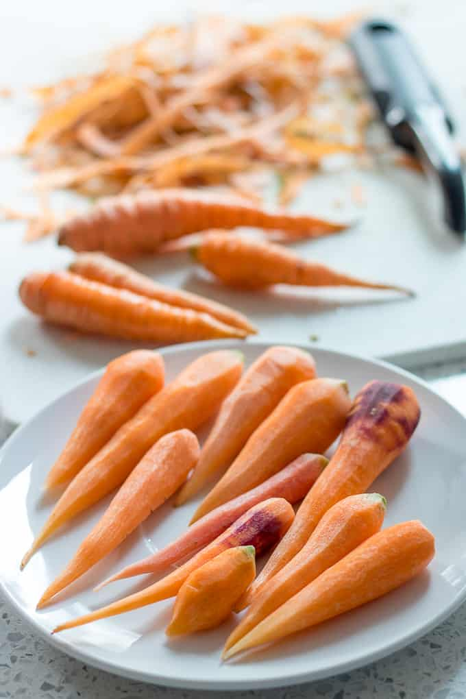 shredding and peeling carrots
