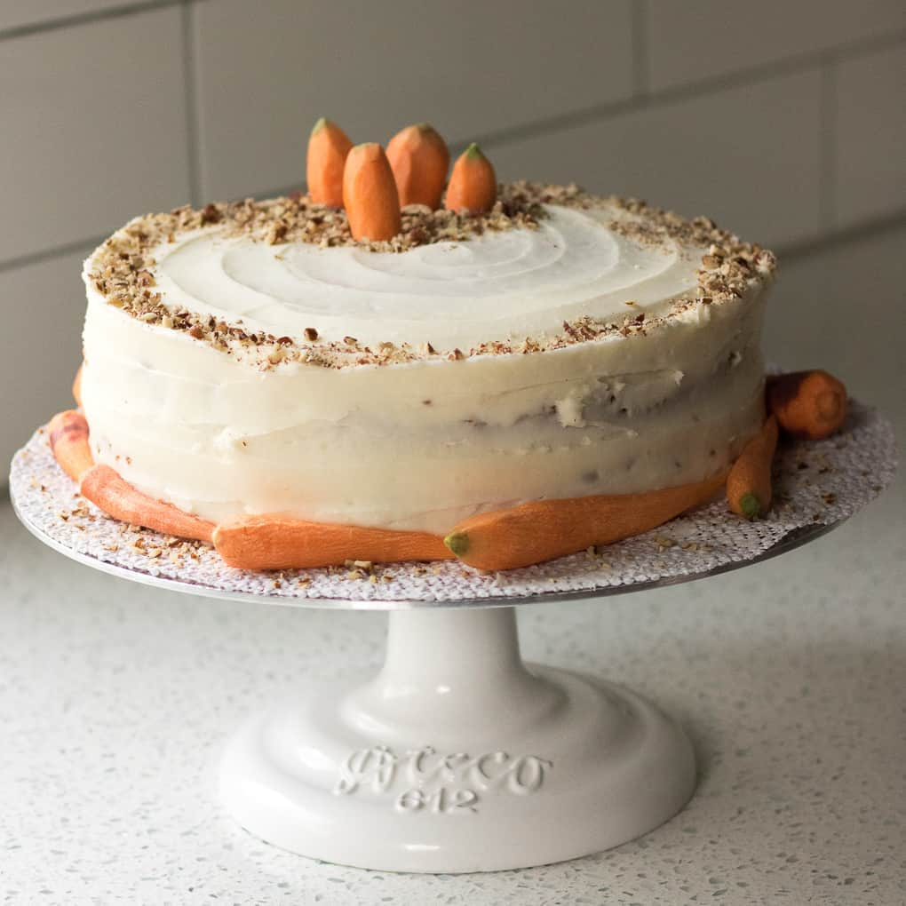 Carrot Cake With Cream Cheese Frosting Amanda S Cookin