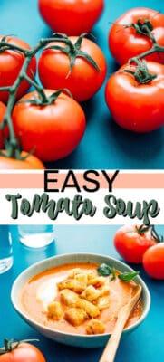 easy tomato soup pin image