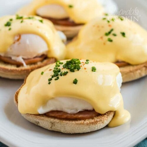 eggs benedict on a plate