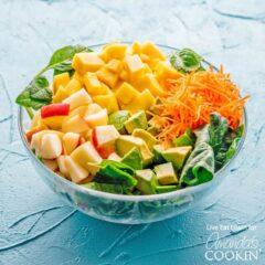 bowl of salad ingredients