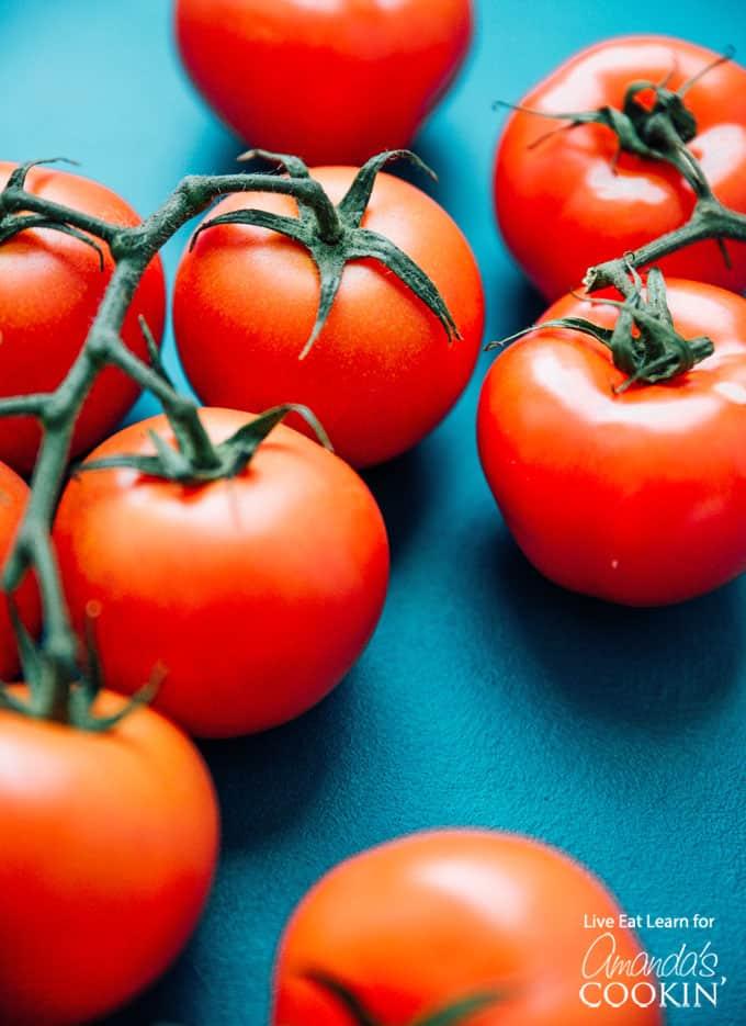 whole ripe tomatoes
