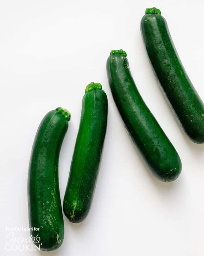 fresh, whole zucchini