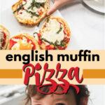 english muffin pizza pin image