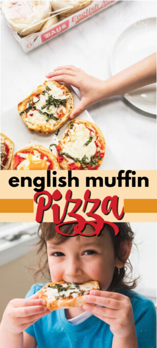 english muffin pizza pin image