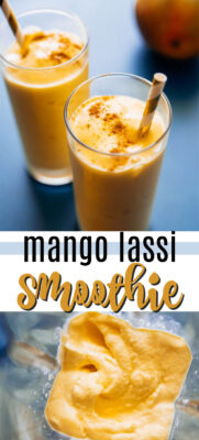 mango lassi smoothie pin image