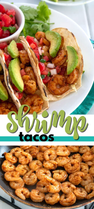 shrimp tacos pin image
