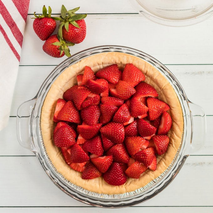 strawberries in a pie crust