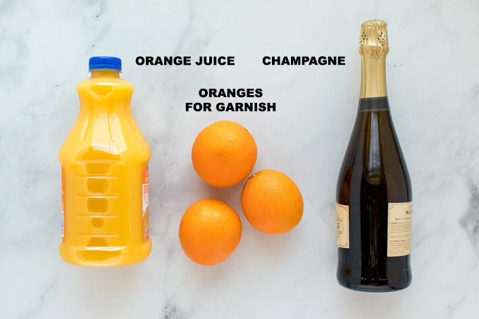 ingredients for mimosas