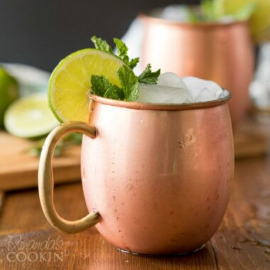 frosty copper mug of moscow mule