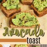 avocado toast pin image