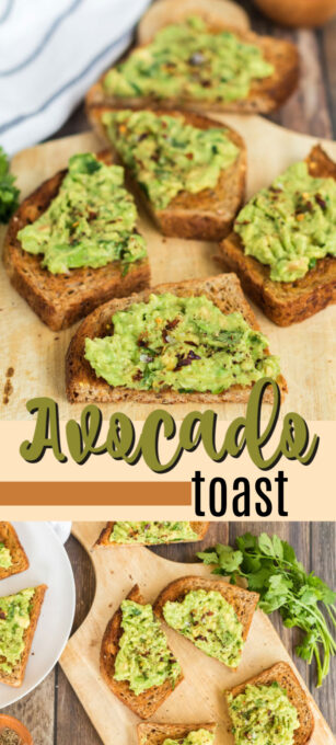 avocado toast pin image